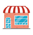 store building with parasol vector image