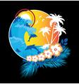 summer floral frame vector image vector image