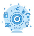 target icon concentric aiming marketing business vector image