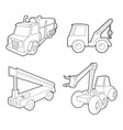 truck icon set outline style vector image