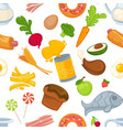 unhealthy and healthy food and products seamless vector image vector image