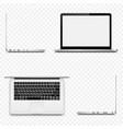 various sides of laptop isolated on transparent vector image