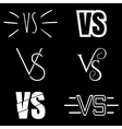 Versus letters logo White V and S symbols vector image vector image