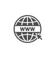website icon world globe vector image vector image