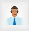 young man operator call center vector image