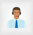 young man operator call center vector image vector image