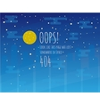 Error page flat template with moon and starry sky vector image