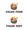 menu paleo diet vector image