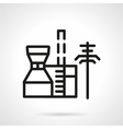 Petrochemical plant black line icon vector image