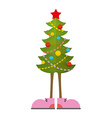 Christmas Tree in boots Christmas tree in shoe vector image