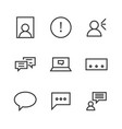 9 chat thin line icon vector image vector image