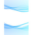 abstract modernistic tech swoosh wave layout vector image vector image