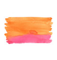 abstract orange and red watercolor background vector image vector image