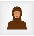 Arab woman in traditional clothes vector image vector image