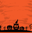 art card for happy halloweendesign template vector image vector image
