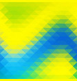 background in yellow blue green triangles shapes vector image vector image