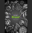 bakery vintage background design hand vector image vector image