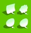 bended paper style speech bubbles vector image