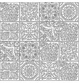 black and white morocco mosaic design abstract vector image