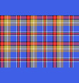 blue madras check plaid pixeled seamless texture vector image vector image
