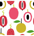 brush grunge exotic fruits seamless pattern vector image