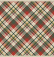 burlap tartan fabric texture check seamless vector image vector image