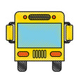 bus transport vehicle icon vector image vector image