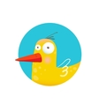 Childish Duck Fun Circle Icon vector image vector image