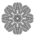 Circular ethnic ornament Mandala monochrome vector image