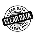 clear data rubber stamp vector image vector image