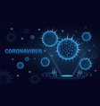 coronavirus hologram design in blue shades vector image vector image
