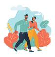 couple men and women walking vector image
