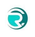 cr initial letters circle elegant logo golden vector image