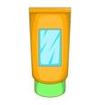 Cream tube icon cartoon style vector image
