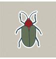 cute hand drawn bug sticker vector image vector image