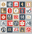 december advent calendar christmas poster vector image