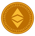 ethereum classic digital coin vector image vector image
