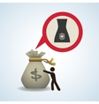 financial item design business icon flat vector image vector image