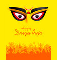 goddess durga face in happy durga puja subh vector image vector image