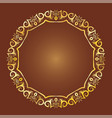 gold antique frame vector image vector image