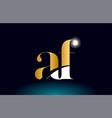 gold golden alphabet letter af a f logo