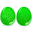 green easter eggs vector image vector image