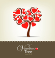happy valentine day tree vector image vector image