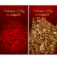 Holiday banners with gold patterns