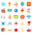 image icons set cartoon style vector image
