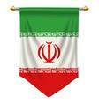 iran pennant vector image vector image