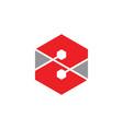 letter z hexagonal geometric logo vector image vector image