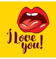 love you with vector image vector image
