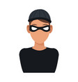 man hacker guy portrait thief technology vector image