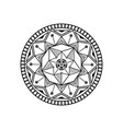 Mandala lotus logo design